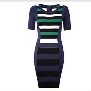 French Connection Striped Bodycon Bandage Dress